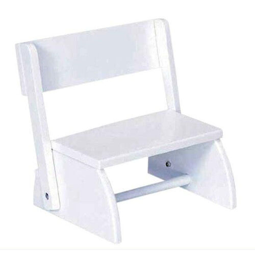 Our Kids Size Small Sturdy Hardwood Flip Step to Sit Stool - White is on sale now.