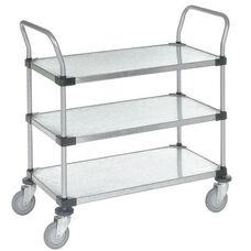 Galvanized 3 Shelf Solid Shelf Cart - 24