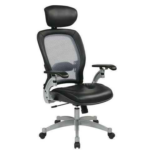 Our Space Professional Light Air Grid Back Office Chair with Adjustable Headrest and Platinum Finish Accents is on sale now.