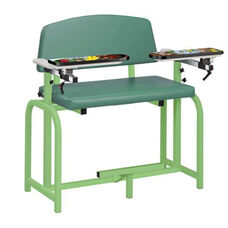 Pediatric Series Extra Wide Blood Drawing Chair with Seat and Flat Top - Spring Garden