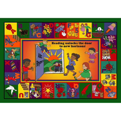 Our Read & Rhyme Rug is on sale now.