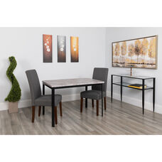 "Avalon 30"" x 45.75"" Rectangular Dining Table in Distressed Slate Finish"