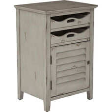 OSP Designs Charlotte Side Table with Storage - Grey