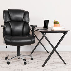 HERCULES Series 24/7 Intensive Use Big & Tall 400 lb. Rated Black LeatherSoft Executive Lumbar Ergonomic Office Chair