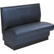 42''H Upholstered V-Shaped Back Single Sided Booth - Grade 5 Vinyl