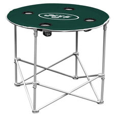 New York Jets Team Logo Round Folding Table