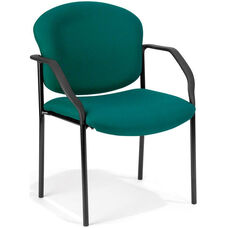 Manor Guest and Reception Fabric Chair with Arms - Teal