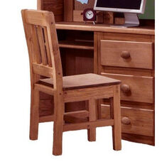 Rustic Style Solid Pine Chair - Mahogany Stain