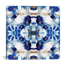 Symmetric Blue by Elisabeth Fredriksson Gallery Wrapped Canvas Artwork