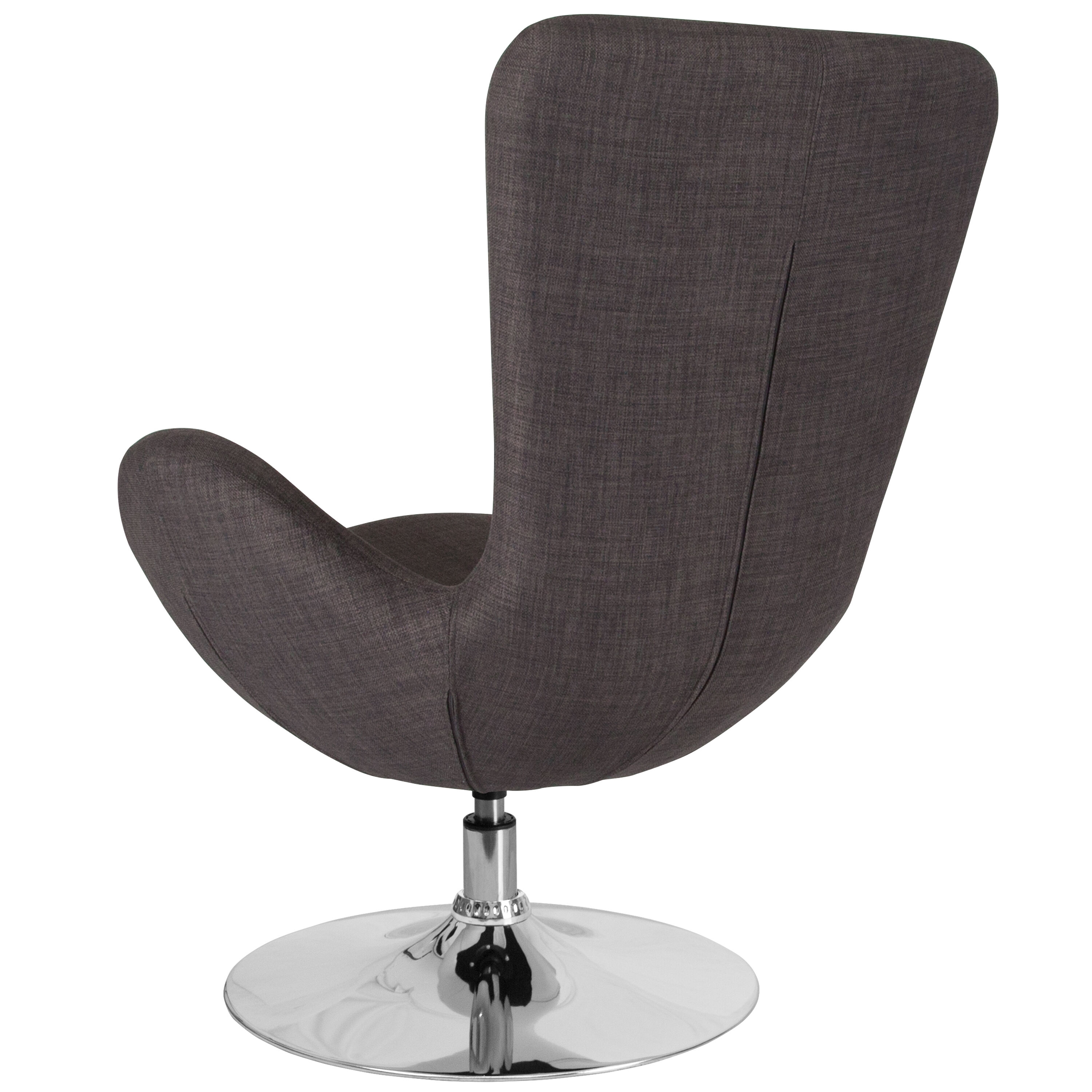 Attirant Our Egg Series Dark Gray Fabric Side Reception Chair Is On Sale Now.