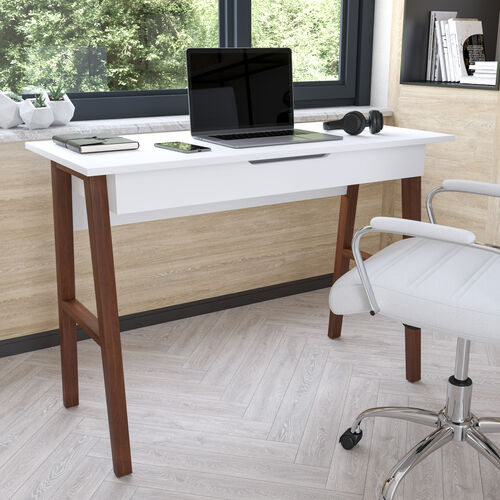 Home Office Writing Computer Desk with Drawer - Table Desk for Writing and Work