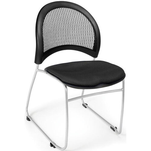 Our Moon Stack Chair with Fabric Seat Cushion - Black is on sale now.