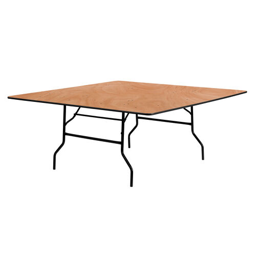 Our 6-Foot Square Wood Folding Banquet Table is on sale now.