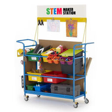 Premium STEM Maker Station with 1 Locking Base Tech Tub™ and Pegboard for Tool Storage