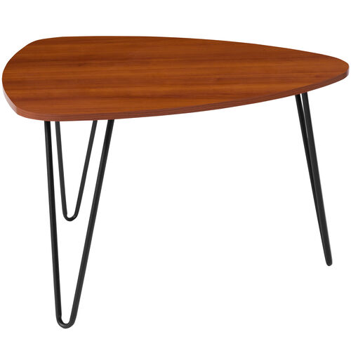 Our Charlestown Collection Cherry Wood Grain Finish Coffee Table with Black Metal Legs is on sale now.