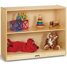 Short Straight 2 Shelf Mobile Wooden Bookcase - 36