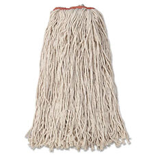 Rubbermaid® Commercial Premium Eight-Ply Cut-End Cotton Wet Mop Head - 24oz - White - 12/Carton