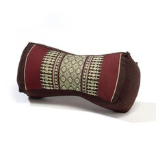 Bone Yoga Pillow - Brown and Burgundy