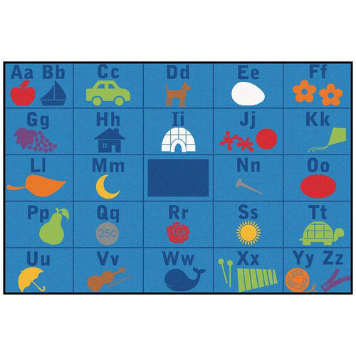 Kids Value Alphabet Seating Rectangular Nylon Rug - 72