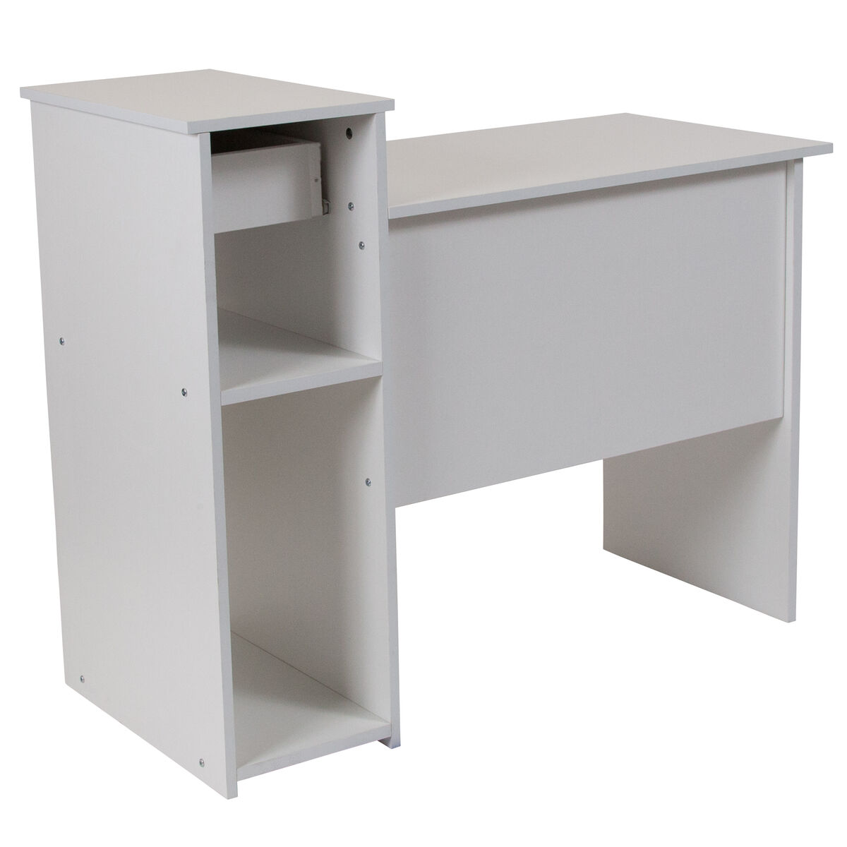 Our Highland Park White Computer Desk With Shelves And Drawer Is On Now
