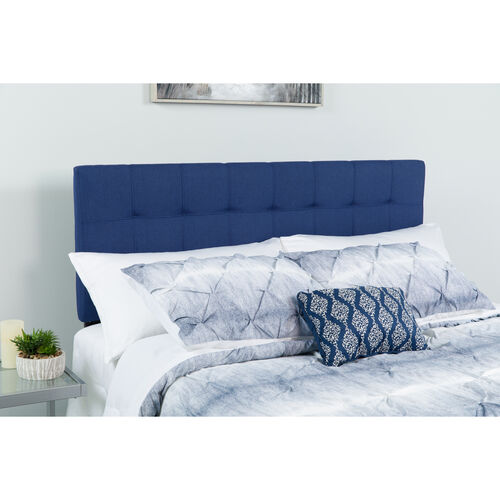 Our Bedford Tufted Upholstered Full Size Headboard in Navy Fabric is on sale now.