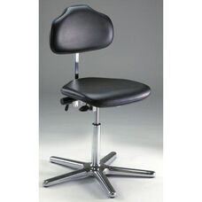 Stera Class 10 Clean Room Series Chair with Dark Charcoal Vinyl Conductive Seat - Low Profile