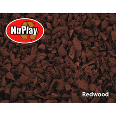 NuPlay Recycled Rubber Loose Fill Mulch - Redwood - 75 Cubic Feet