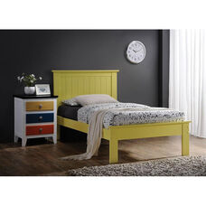 Prentiss Wooden Bed with Panel Headboard - Queen - Yellow