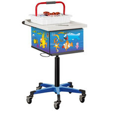 Pediatric Phlebotomy Cart with Two Removable Storage Bins - Ocean Commotion