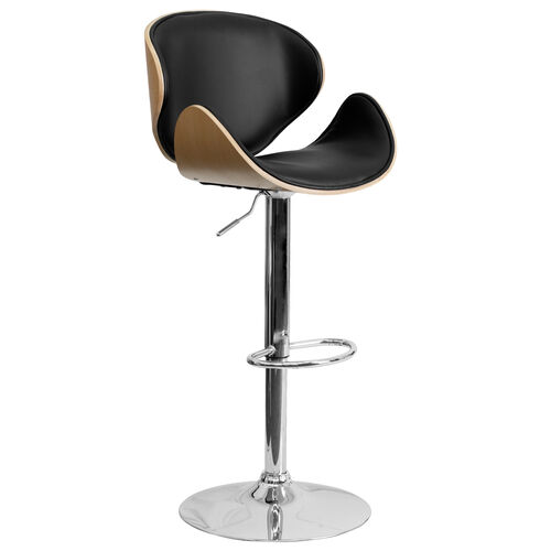 Our Beech Bentwood Adjustable Height Barstool with Curved Back and Black Vinyl Seat is on sale now.