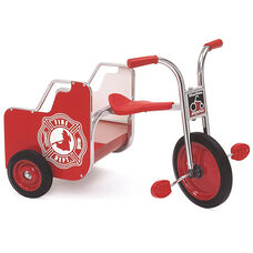 Silver Rider Fire Truck Trike with Spokeless Solid Rubber Wheels - Red