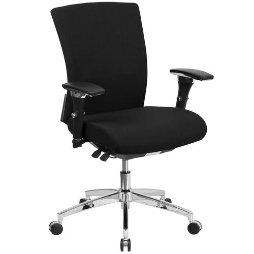 Our HERCULES Series 24/7 Intensive Use 300 lb. Rated Black Fabric Multifunction Ergonomic Office Chair with Seat Slider is on sale now.