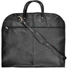 Garment Cover Bag - Milano Top Grain Leather - Black
