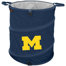 University of Michigan Team Logo Collapsible 3-in-1 Cooler Hamper Wastebasket