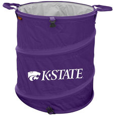 Kansas State University Team Logo Collapsible 3-in-1 Cooler Hamper Wastebasket