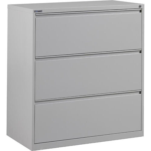 OSP Furniture Heavy Guage Steel 3 Drawer Lateral File