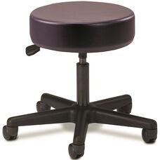 Pneumatic Adjustable Medical Stool - Purple Gray with Black Base