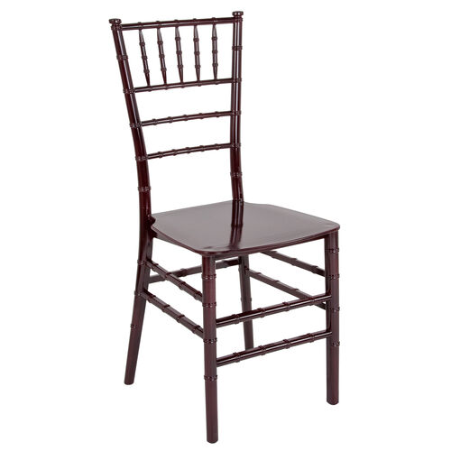 """Our HERCULES Series Mahogany Resin Stacking Chiavari Chair with <span style=""""color:#0000CD;"""">Free </span> Cushion is on sale now."""