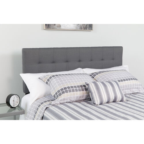 Our Bedford Tufted Upholstered King Size Headboard in Dark Gray Fabric is on sale now.