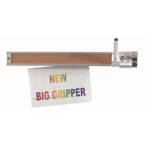 Display Rail with Tan Vinyl Impregnated Cork Insert and Paper Gripper - 2