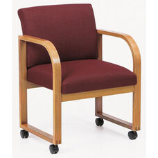 Contour Series Full Back Guest Chair with Sled Base and Casters