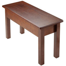 Emmett Bench Seat with Storage and Hinged Lid - Walnut