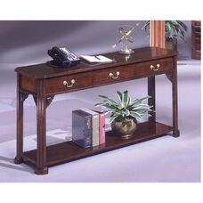 Governors Sofa Table - Engraved Executive Mahogany