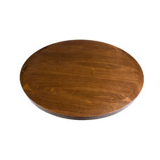 Wood Veneer Round Table Top with Solid Ash Wood Edge - Autumn Ash
