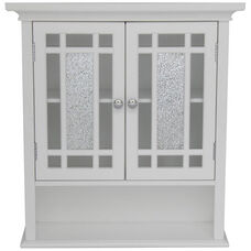 Windsor Wall Cabinet with Two Doors and One Shelf - White