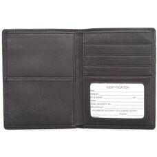 RFID Blocking Passport Currency Wallet - Top Grain Nappa Leather - Black