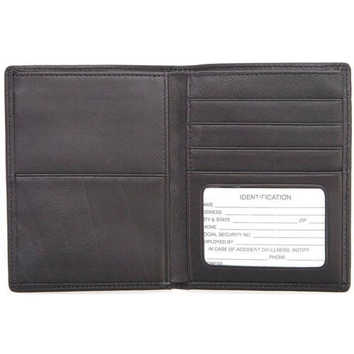 Our RFID Blocking Passport Currency Wallet - Top Grain Nappa Leather - Black is on sale now.