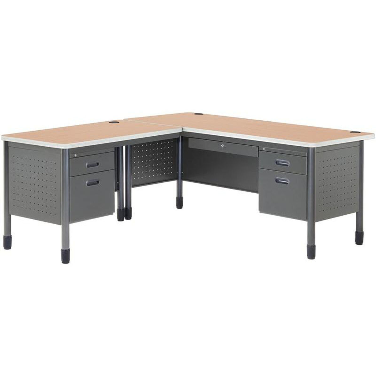 Our Mesa L Shaped Desk With Left Pedestal Return Maple Is On Now