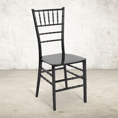 "Our HERCULES Series Black Resin Stacking Chiavari Chair with <span style=""color:#0000CD;"">Free </span> Cushion is on sale now."
