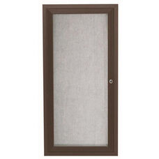 1 Door Outdoor Aluminum Framed Enclosed Bulletin Board - Bronze Anodized Finish - 24